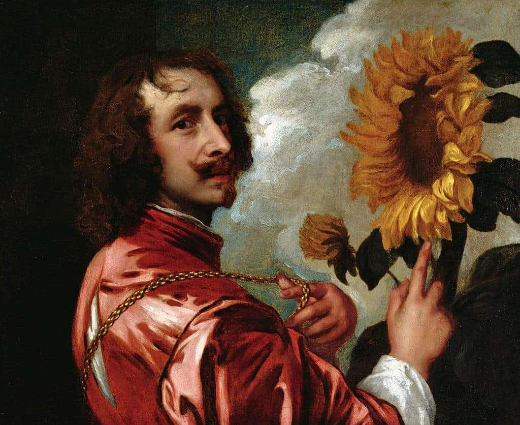 AnthonyvanDyck - 1633-Self-Portrait-With-a-Sunflower