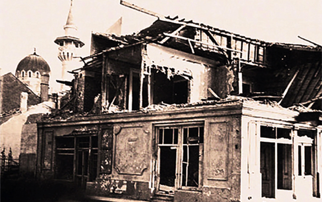 Bombardament sovietic, Constanța - Str. Traian