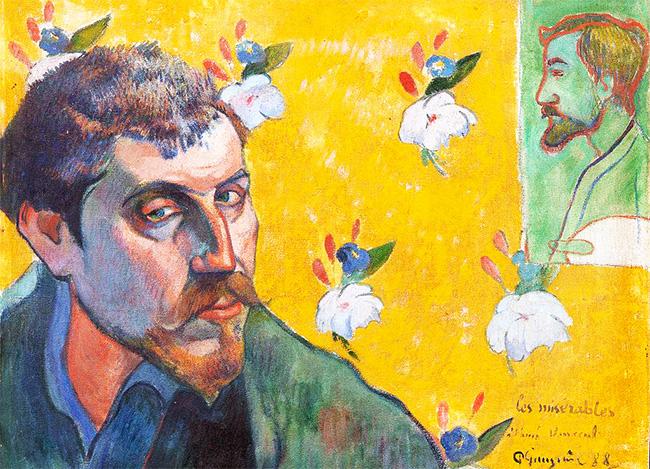 Paul Gauguin (1848-1903) Self-portrait - detail
