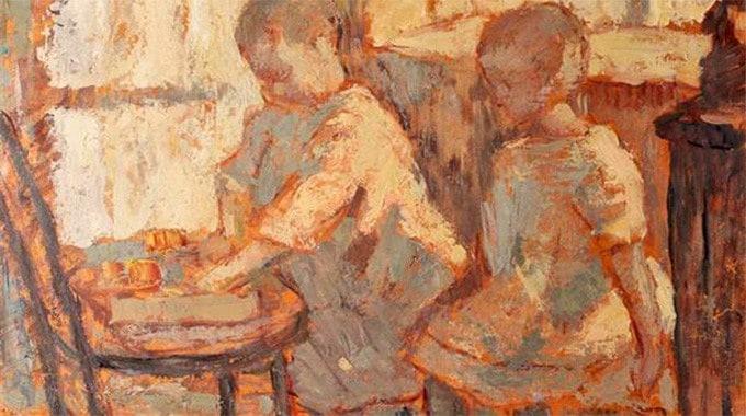NicolaeTonitza - 1920-Camera-copiilor-Childrens-Room-deta