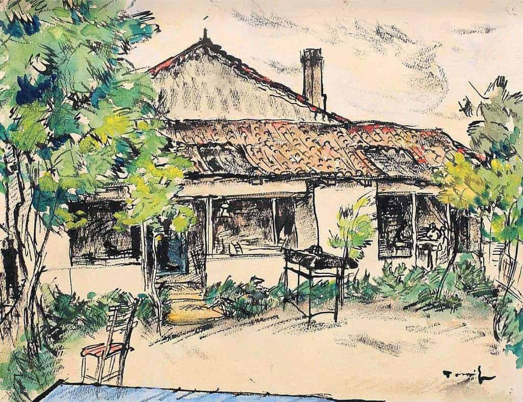 NicolaeTonitza - 1927-1930-Curte-la-Mangalia-Yard-in-Mangalia