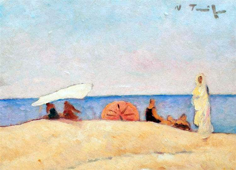 NicolaeTonitza - 1927-Plaja-la-Mangalia-Mangalia-Beach