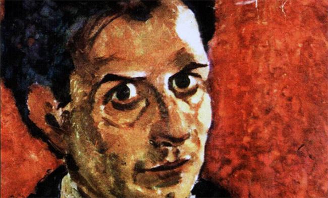 Nicolae Tonitza Autoportret - detaliu