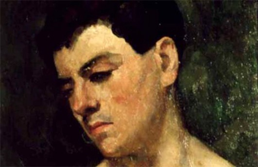 Head of a young man - detail