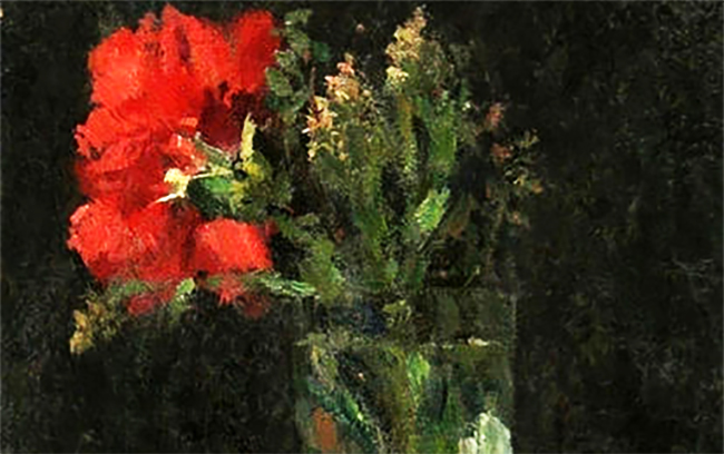 Red Carnation in a Glass - detail