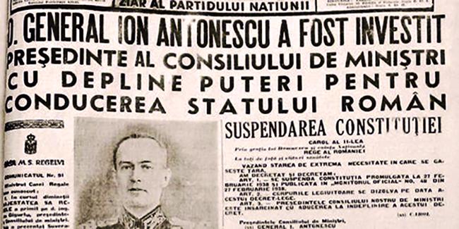 Începutul Dictaturii Antonescu